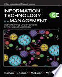 Information Technology for Management T Ransforming Organizations in the Di