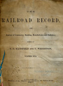 Railroad Record and Journal of Commerce  Banking  Manufactures and Statistics