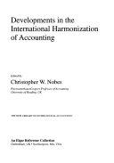 Developments in the International Harmonization of Accounting