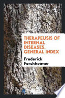 Therapeusis of Internal Diseases. General Index