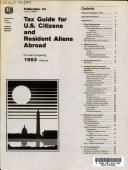 Tax Guide for U S  Citizens and Resident Aliens Abroad