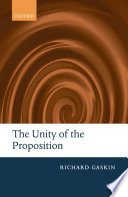 The Unity Of The Proposition