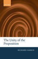 The Unity of the Proposition Pdf/ePub eBook