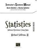 Statistics  Informed Decisions Using Data