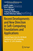 Recent Developments and New Direction in Soft-Computing Foundations and Applications