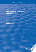 Applications Of Pattern Recognition Book PDF