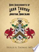 Some Descendants of John Thomas of Jamestown, Rhode Island