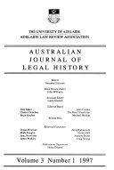 Australian journal of legal history
