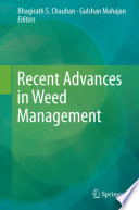 Recent Advances in Weed Management Book