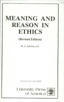Meaning and Reason in Ethics