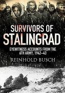 Survivors of Stalingrad Book