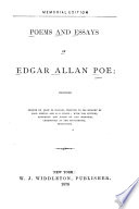 Poems and Essays of Edgar Allan Poe Book