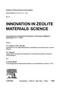 Innovation In Zeolite Materials Science Book PDF
