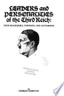 Leaders & Personalities of the Third Reich