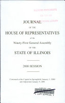 Journal of the House of Representatives Book