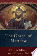 The Gospel of Matthew  Catholic Commentary on Sacred Scripture