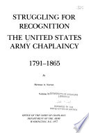 The United States Army Chaplaincy