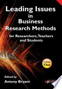 Leading Issues In Business Research Methods Book