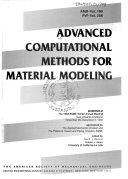 Advanced Computational Methods for Material Modeling