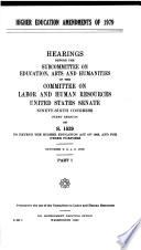 Higher Education Amendments Of 1979