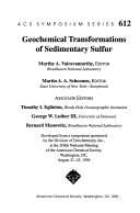 Geochemical Transformations of Sedimentary Sulfur Book