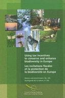 Pdf Incitations Fiscales Et la Protection de la Biodiversité en Europe Telecharger
