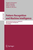 Pattern Recognition and Machine Intelligence: 4th ...