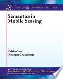 Semantics in Mobile Sensing Book