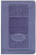 CU  JESUS CALLING   Purple Leathersoft