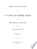 Annual Report of the Director  United States Coast and Geodetic Survey  to the Secretary of Commerce