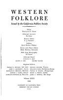 Western Folklore Book
