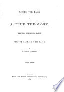 Nature the Basis of a True Theology