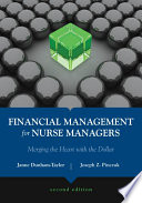 Financial Management for Nurse Managers Book
