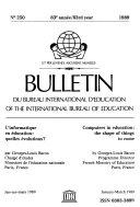 Bulletin of the International Bureau of Education