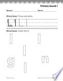Pre Kindergarten Foundational Phonics Skills Primary Sound L PDF