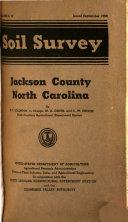 Soil survey of Jackson County  North Carolina