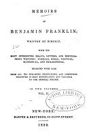 Memoirs of Benjamin Franklin