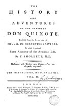 The History and Adventures of the Renowned Don Quixote