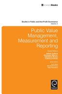 Public Value Management, Measurement and Reporting
