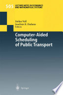 Computer Aided Scheduling of Public Transport Book