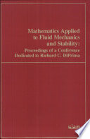 Mathematics Applied To Fluid Mechanics And Stability Book PDF