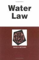 Water Law In A Nutshell Book PDF