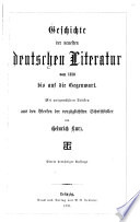 Geschichte der neuesten deutschen Literatur von 1830 bis auf die Gegenwart