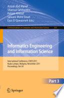 Informatics Engineering and Information Science  Part III Book