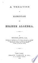A Treatise On Elementary And Higher Algebra Book PDF