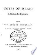 Notes on Islam Book