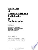Union List of Geologic Field Trip Guidebooks of North America