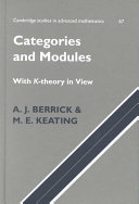 Categories and Modules with K Theory in View