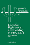 Cognitive Psychology and Reading in the USSR