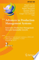 Advances in Production Management Systems  Innovative Production Management Towards Sustainable Growth